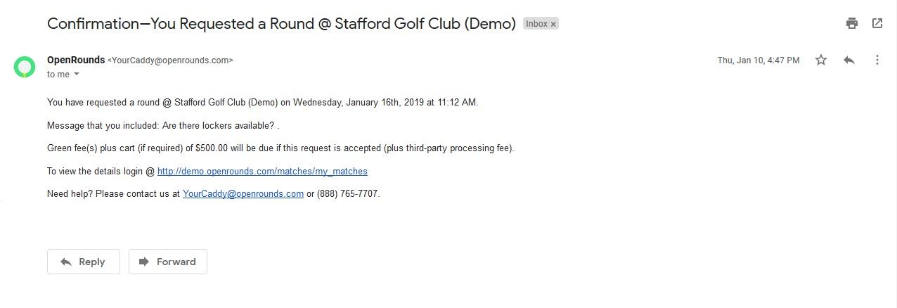 Request round confirmation